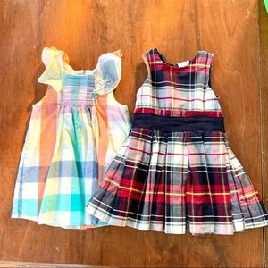 Set of sleeveless plaid dresses {Size 12-18m}